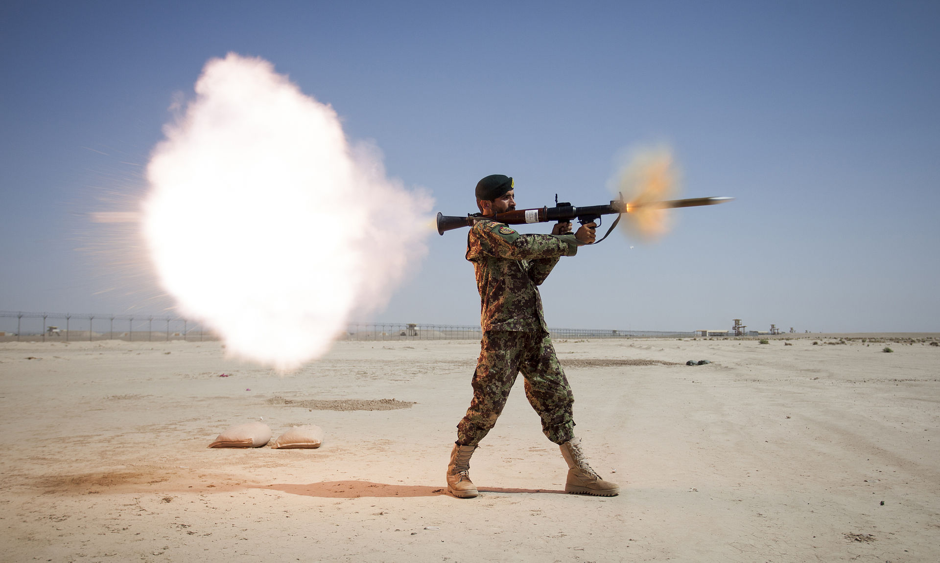 Afghan Soldier firing RPG
