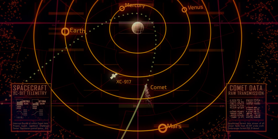 Challenger Center Comet Animations IsaacBotkincom - Solar system map 3d